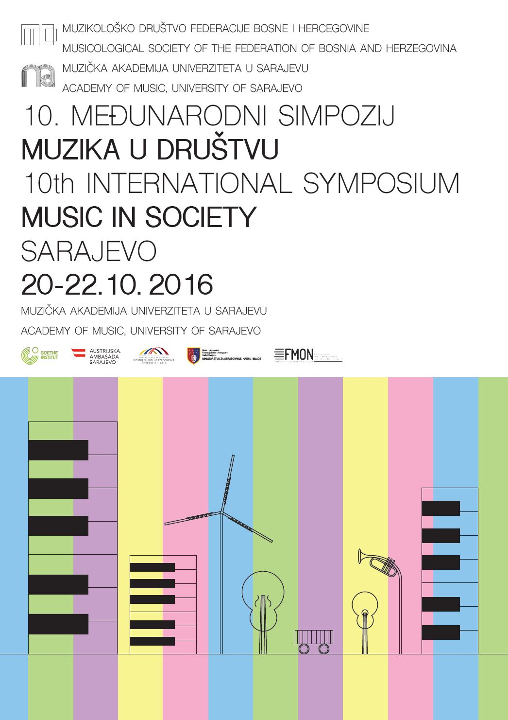 plakat muzika u društvu 2016